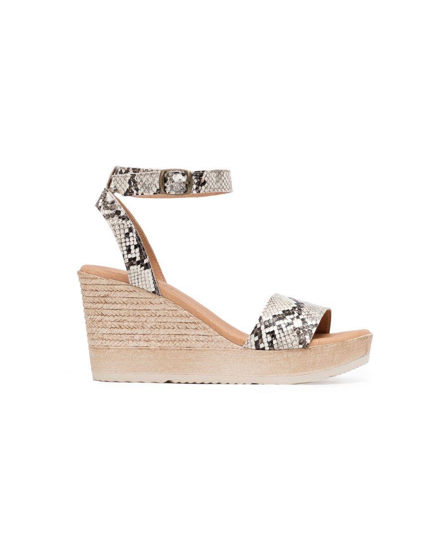 Image for Eva Lopez Wedge Sandals Snake Women Summer Shoes