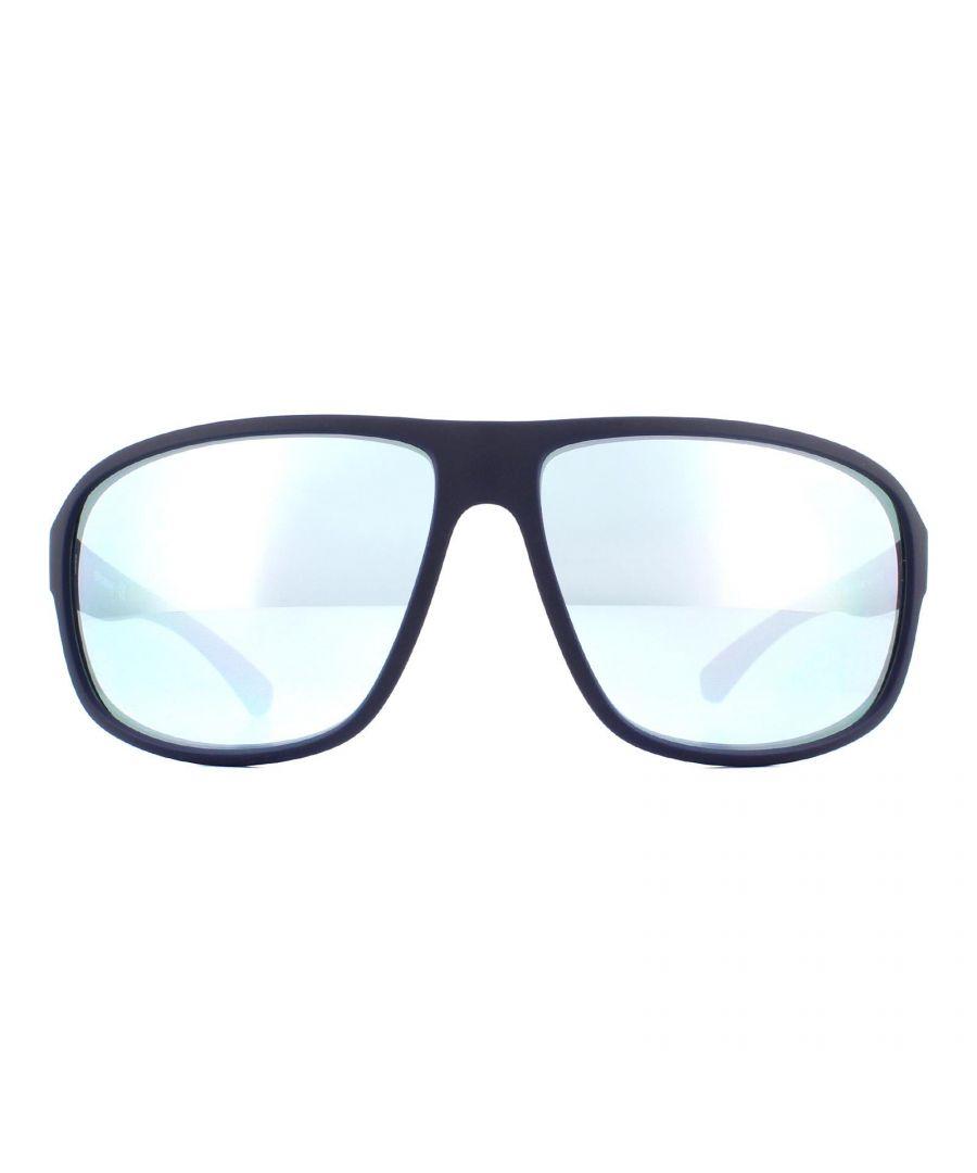 Image for Emporio Armani Sunglasses EA4130 57546J Matte Blue Blue Mirror White