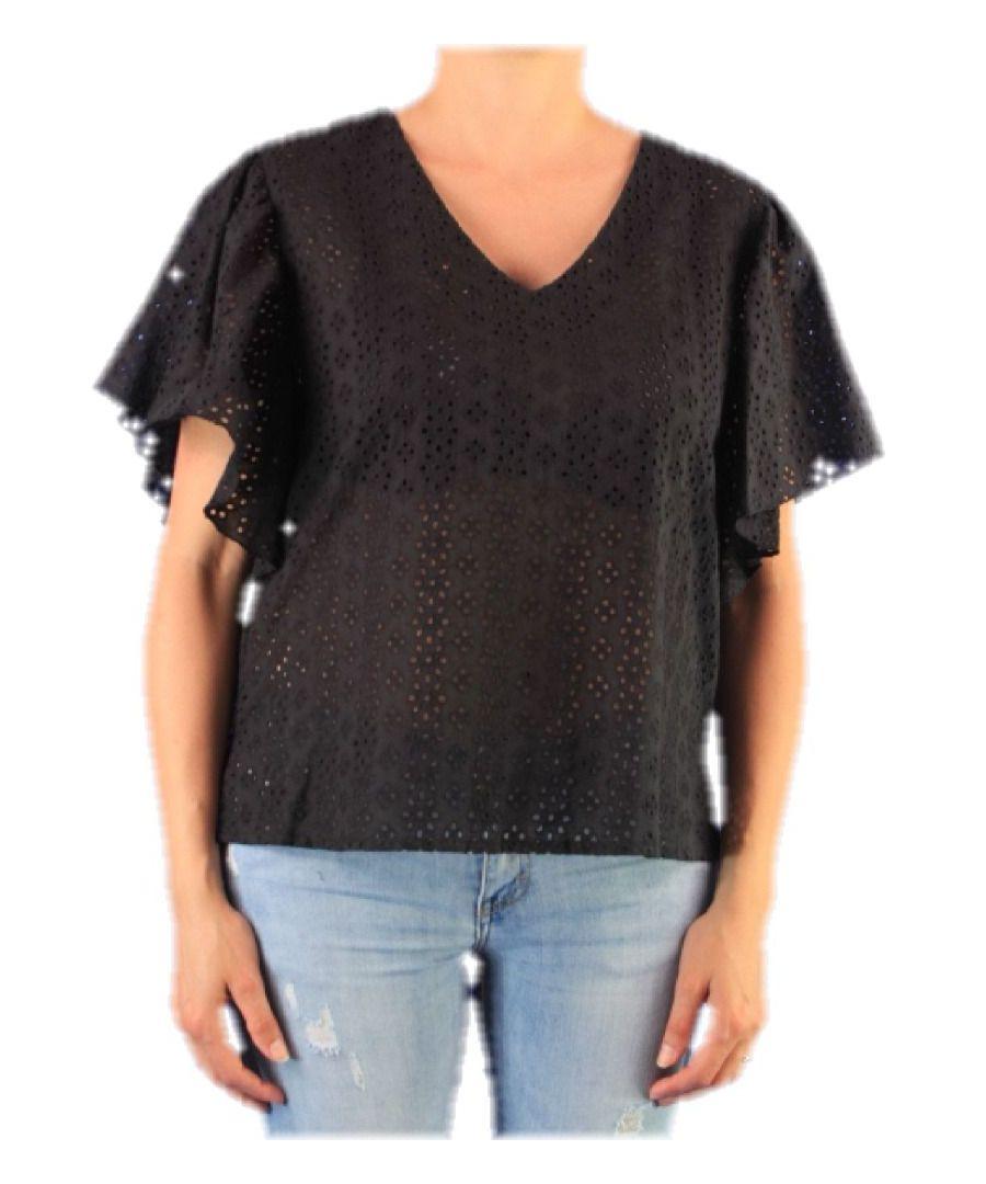 Image for ALTEA WOMEN'S 450190 BLACK COTTON T-SHIRT