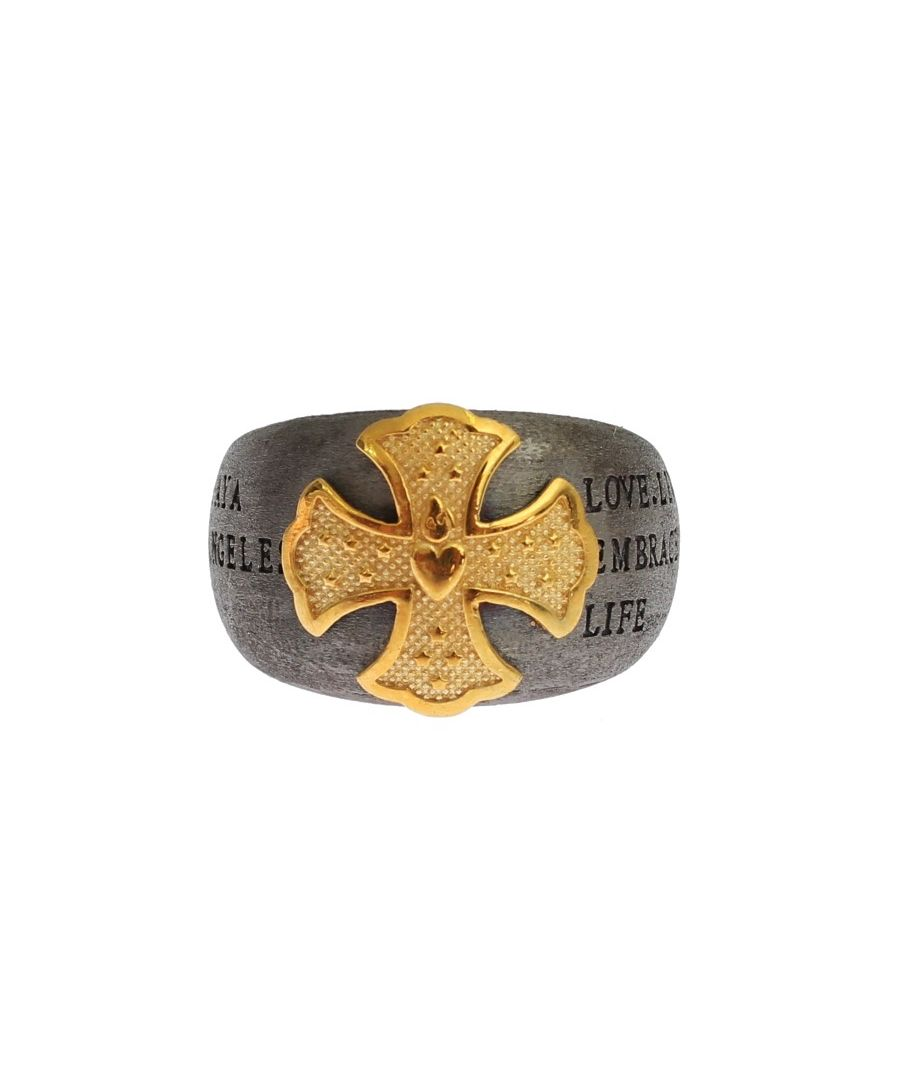 Image for Nialaya Gold Crest 925 Sterling Silver Ring