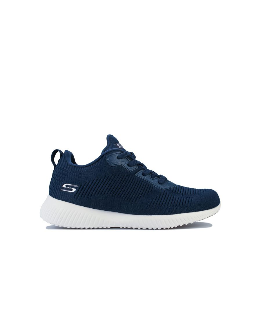 Image for Women's Skechers BOBS Squad Tough Talk Trainers in Navy