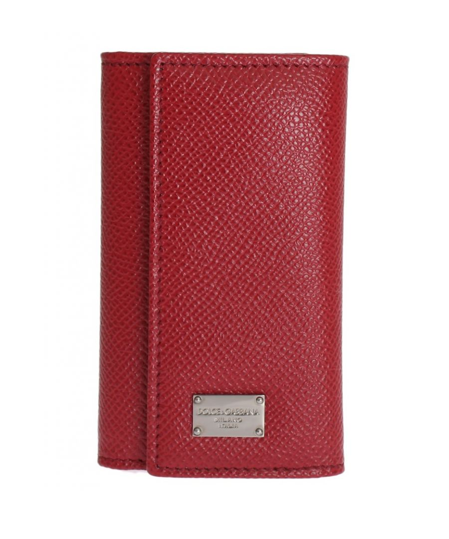 Image for Dolce & Gabbana Red Leather Key Case Wallet