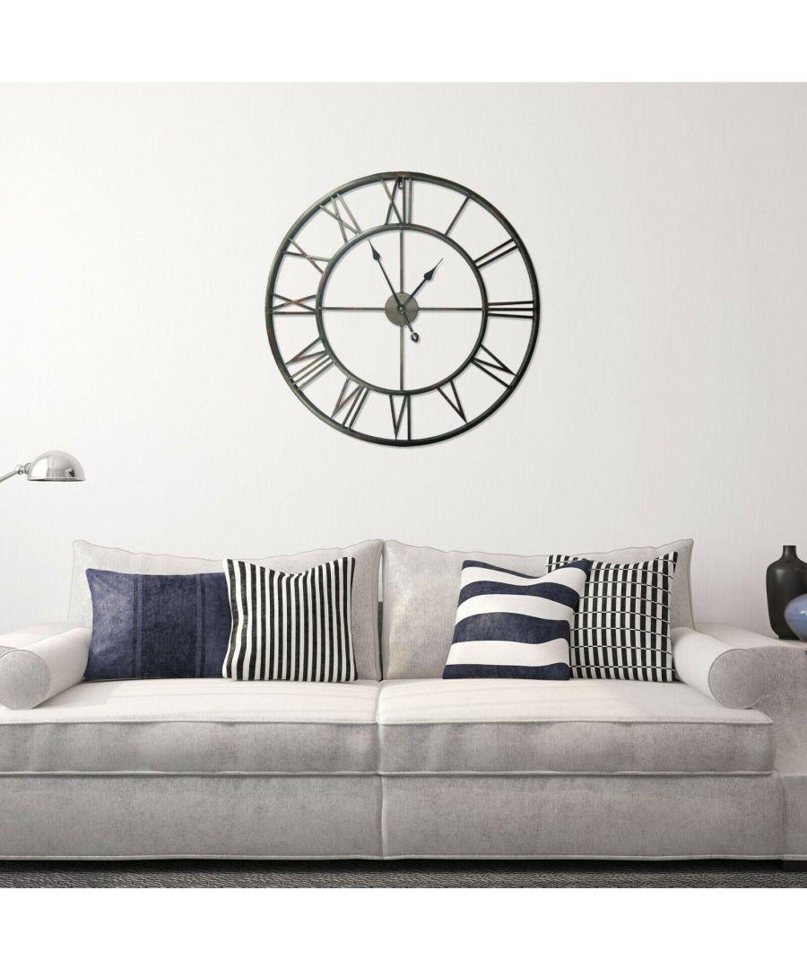 Image for Walplus Roman No. Iron Wall Clock 56cm clock, Bedroom, Living room, Modern, Home office essential, Gift