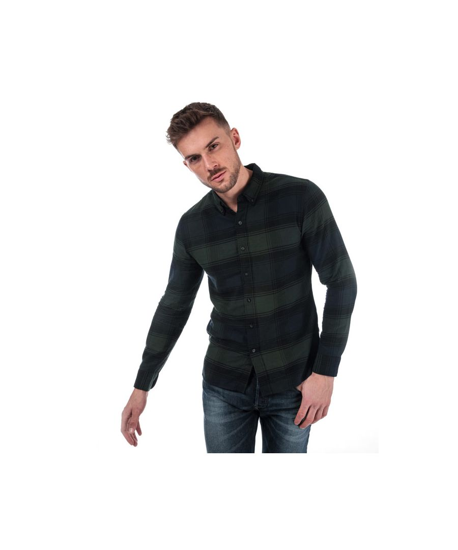 Image for Men's Levis Pacific Checked Shirt in navy green