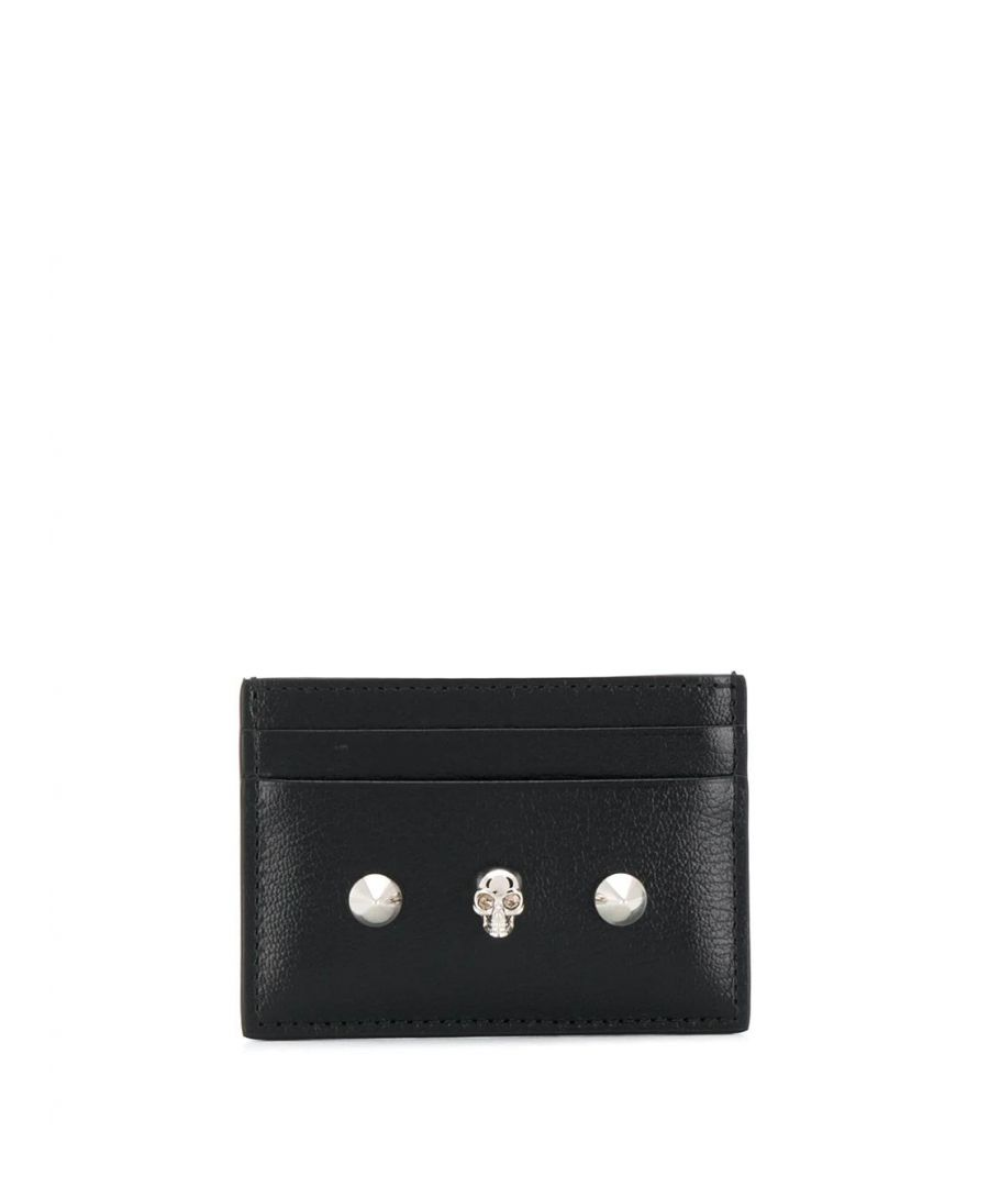 Image for ALEXANDER MCQUEEN WOMEN'S 6102061SM2I1050 BLACK LEATHER CARD HOLDER