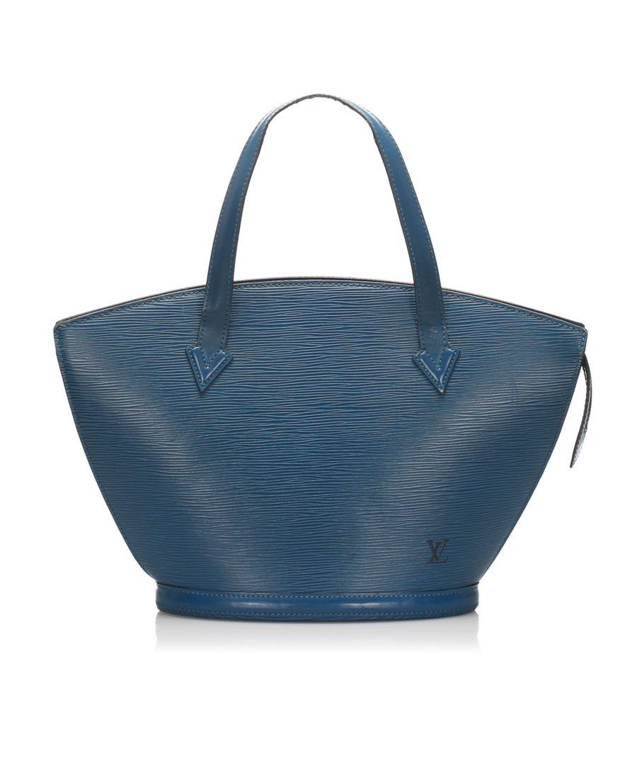 Image for Vintage Louis Vuitton Epi Saint Jacques Short Strap PM Blue