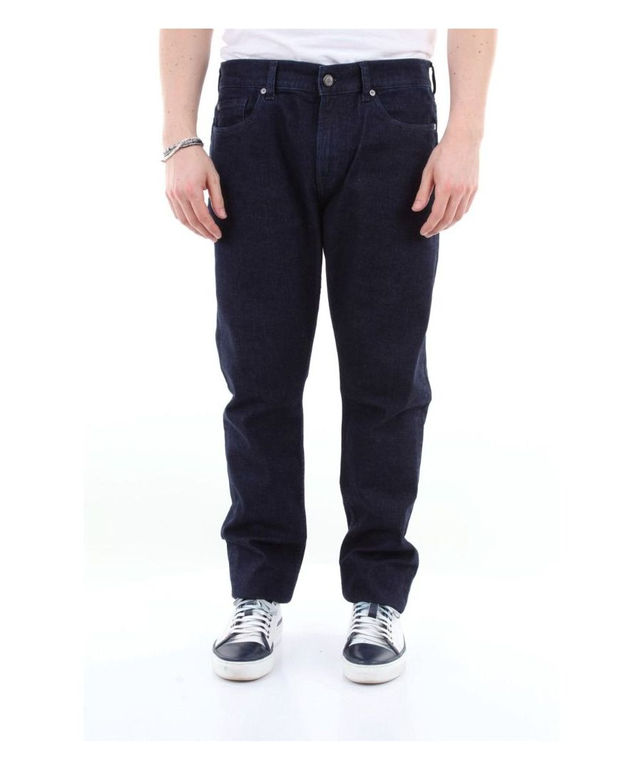 Image for 7 FOR ALL MANKIND MEN'S JSD4A790RIJEANSSCURO BLUE COTTON JEANS