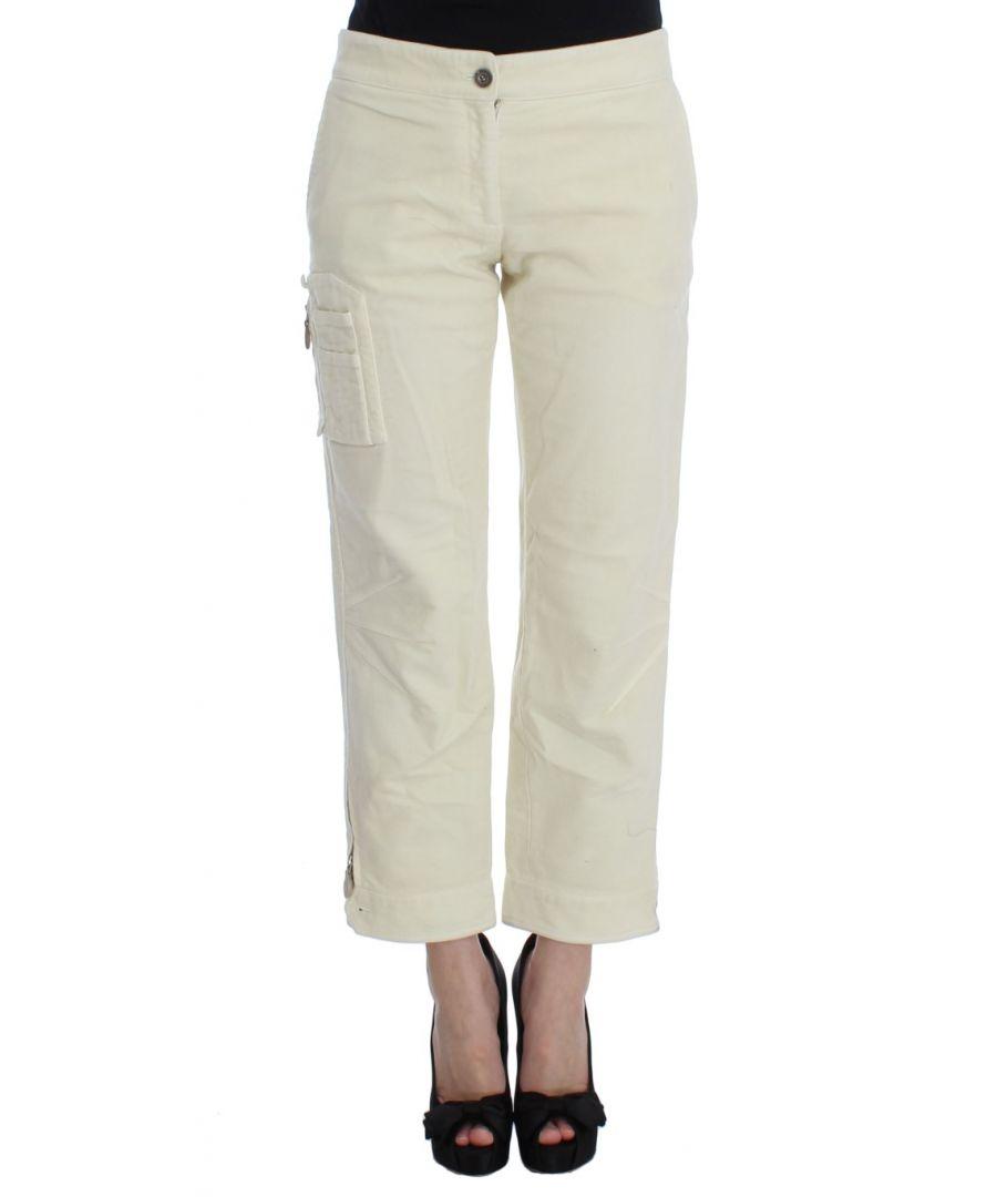 Image for Ermanno Scervino Beige Cotton Capri Cropped Cargo Pants