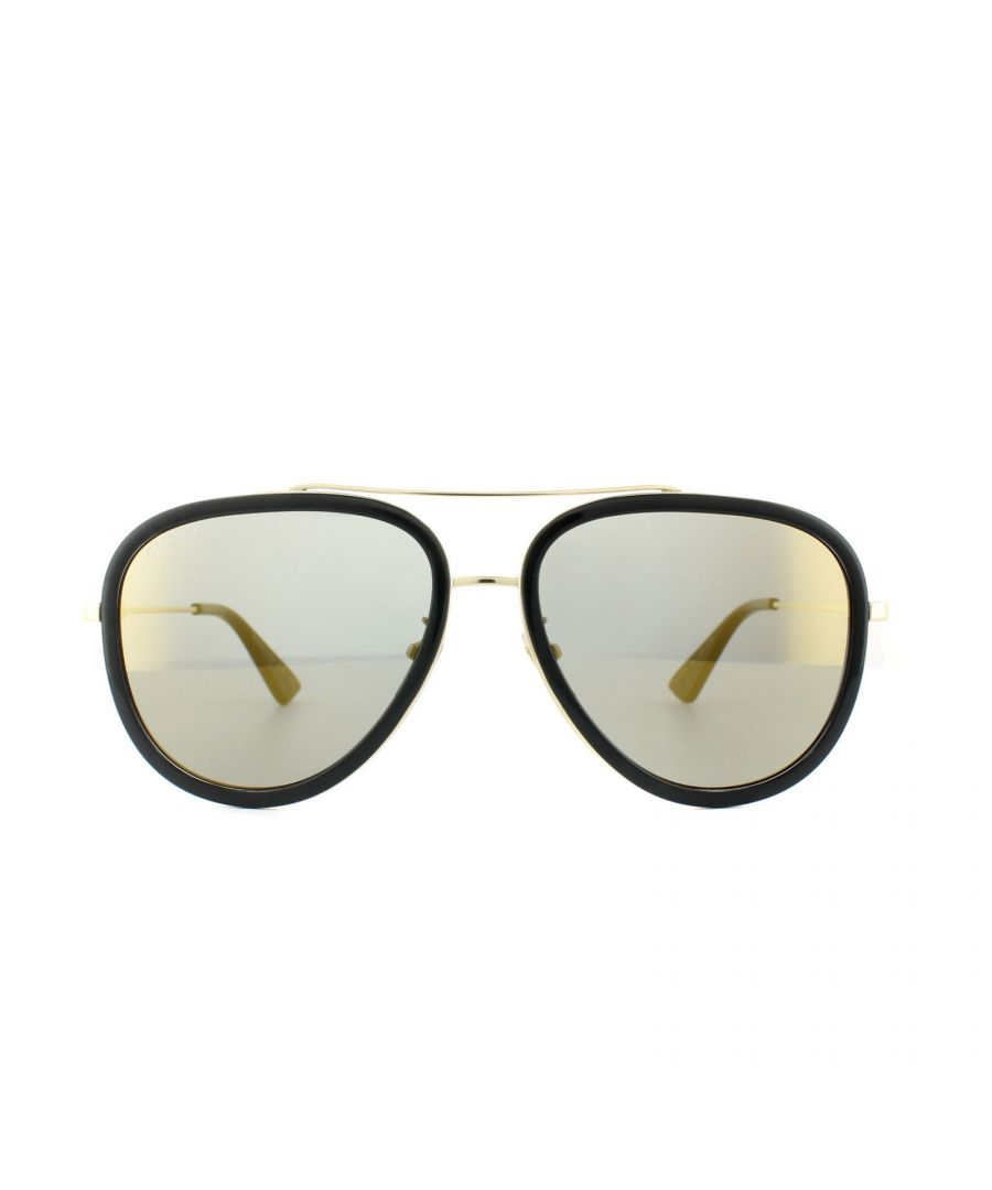 Image for Gucci Sunglasses GG0062S 001 Black Gold Gold