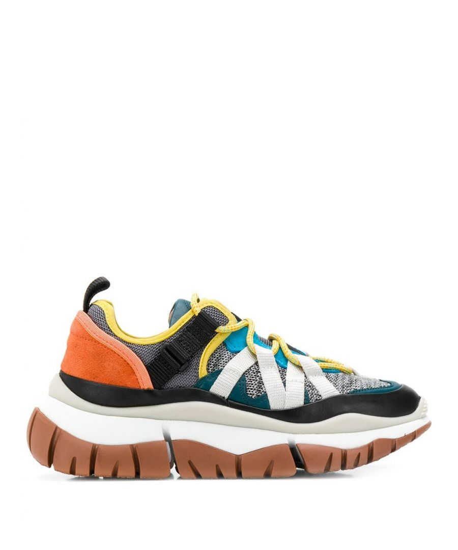 Image for CHLOÉ WOMEN'S CHC19W2501896Y MULTICOLOR LEATHER SNEAKERS