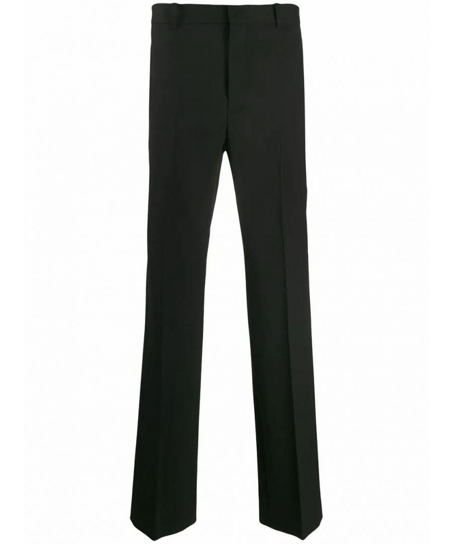 Image for BALENCIAGA MEN'S 601181TGT091000 BLACK WOOL PANTS