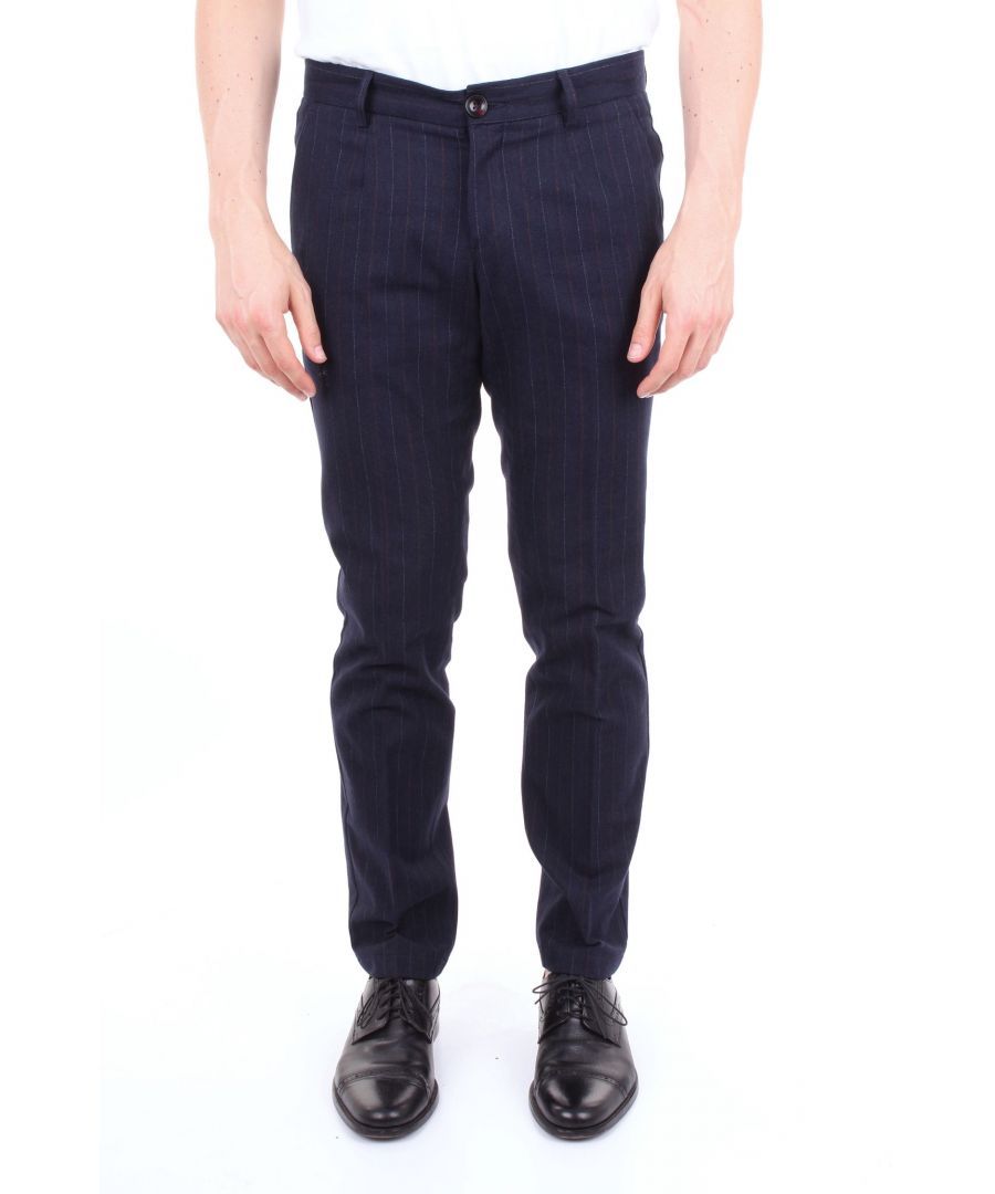 Image for ALESSANDRO DELL'ACQUA MEN'S AD7131P0060ERBLUE BLUE COTTON PANTS
