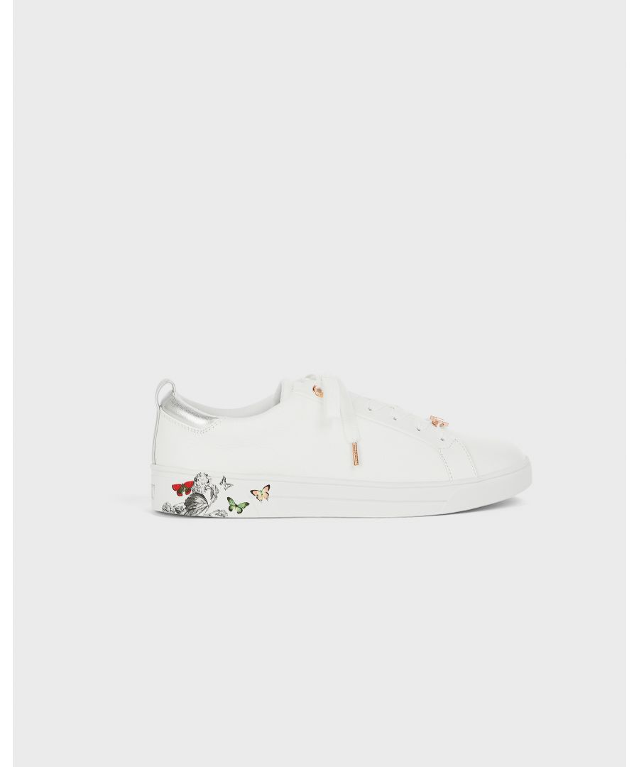 Image for Ted Baker Mispir Printed Sole Tennis Trainer, White