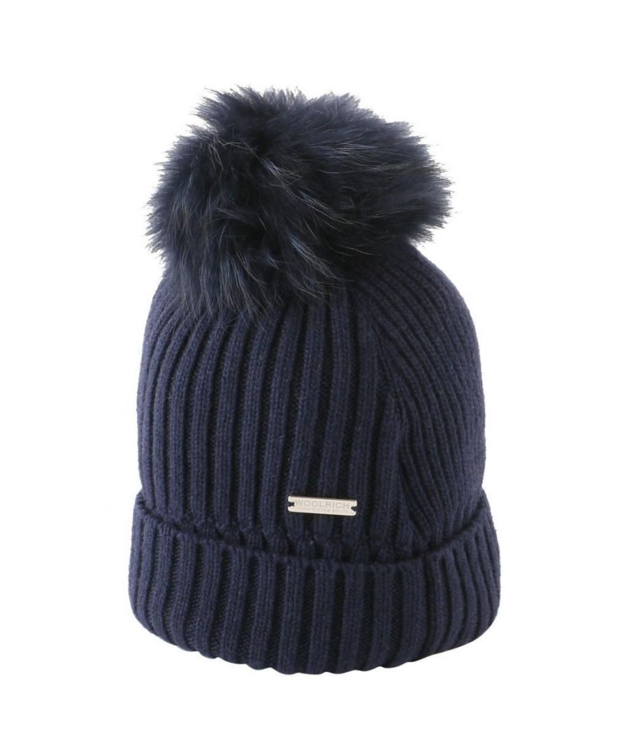 Image for WOOLRICH WOMEN'S WWACC1414AC513989 BLUE WOOL HAT