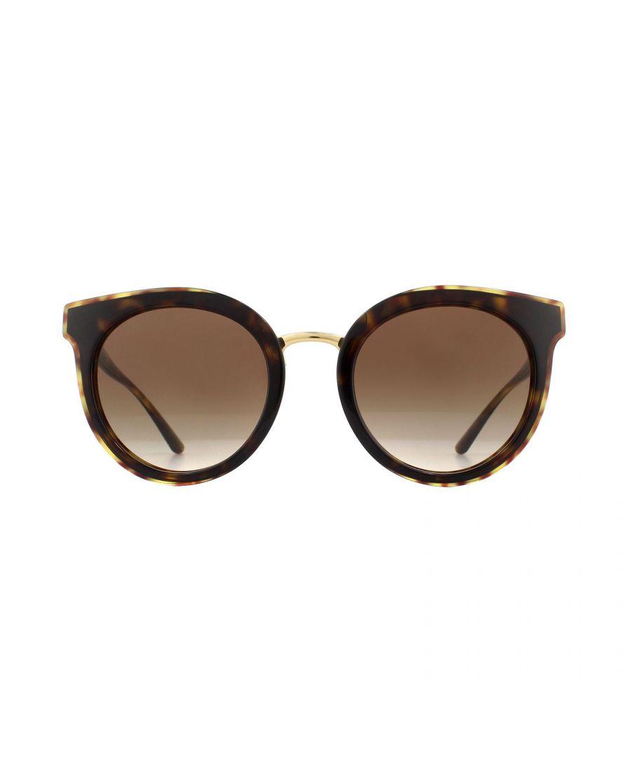 Image for Dolce & Gabbana Sunglasses DG4371 502/13 Havana Brown Gradient