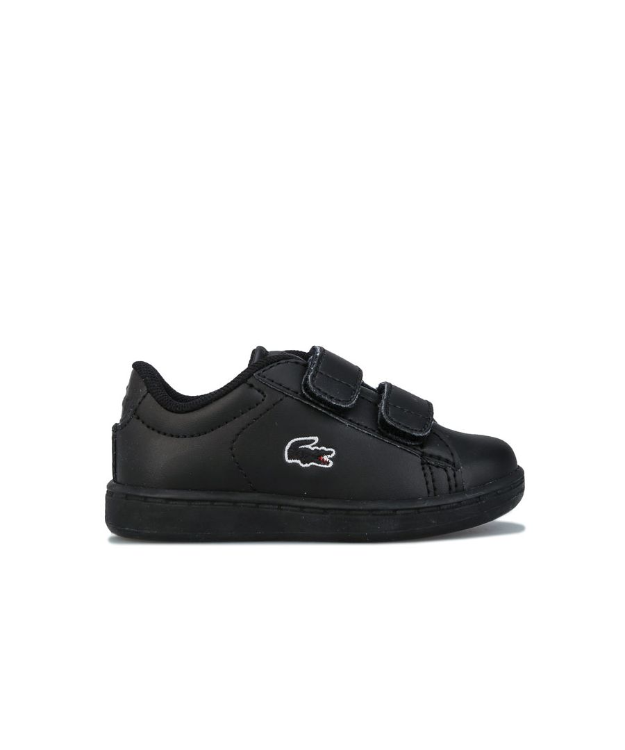 Image for Boy's Lacoste Infant Carnaby Evo Trainers in Black