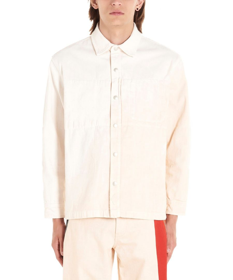 Image for DIESEL RED TAG MEN'S 00S586BIAN WHITE COTTON SHIRT