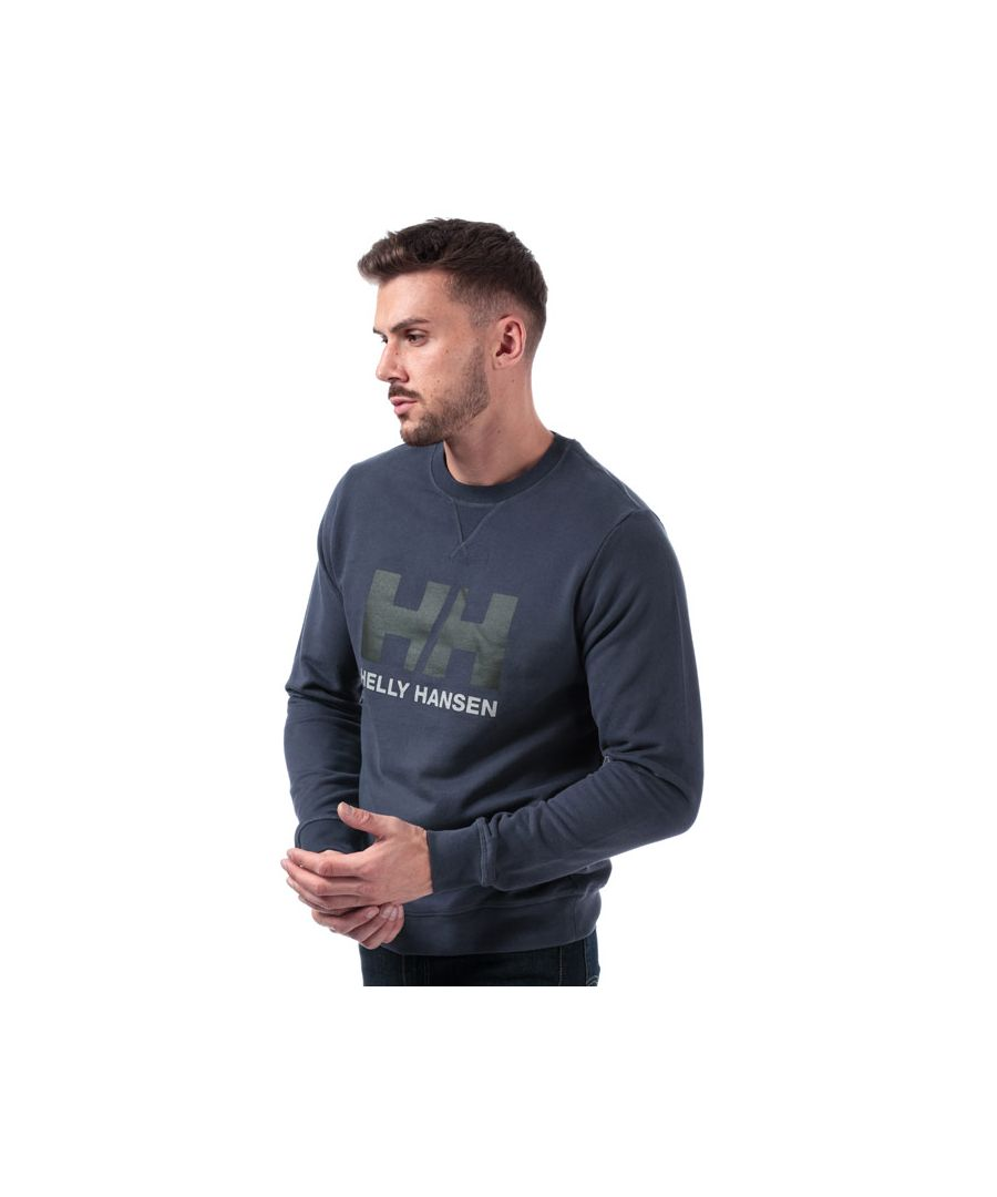 Image for Men's Helly Hansen Logo Crew Sweat in Dark Blue