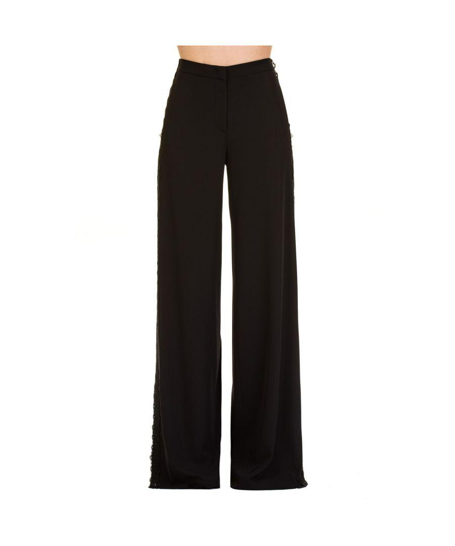 Image for BLUMARINE WOMEN'S 362300140 BLACK POLYESTER PANTS