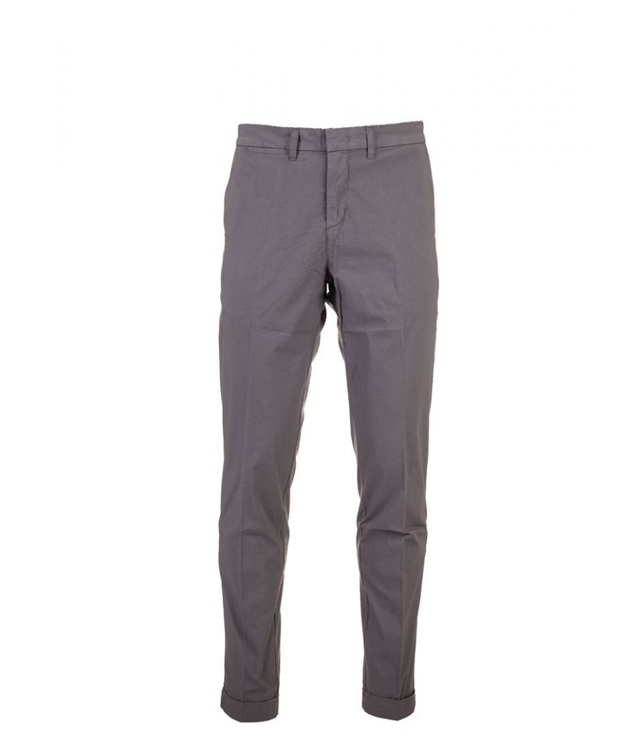 Image for FAY MEN'S NTM8640189TRSEB406 GREY COTTON PANTS