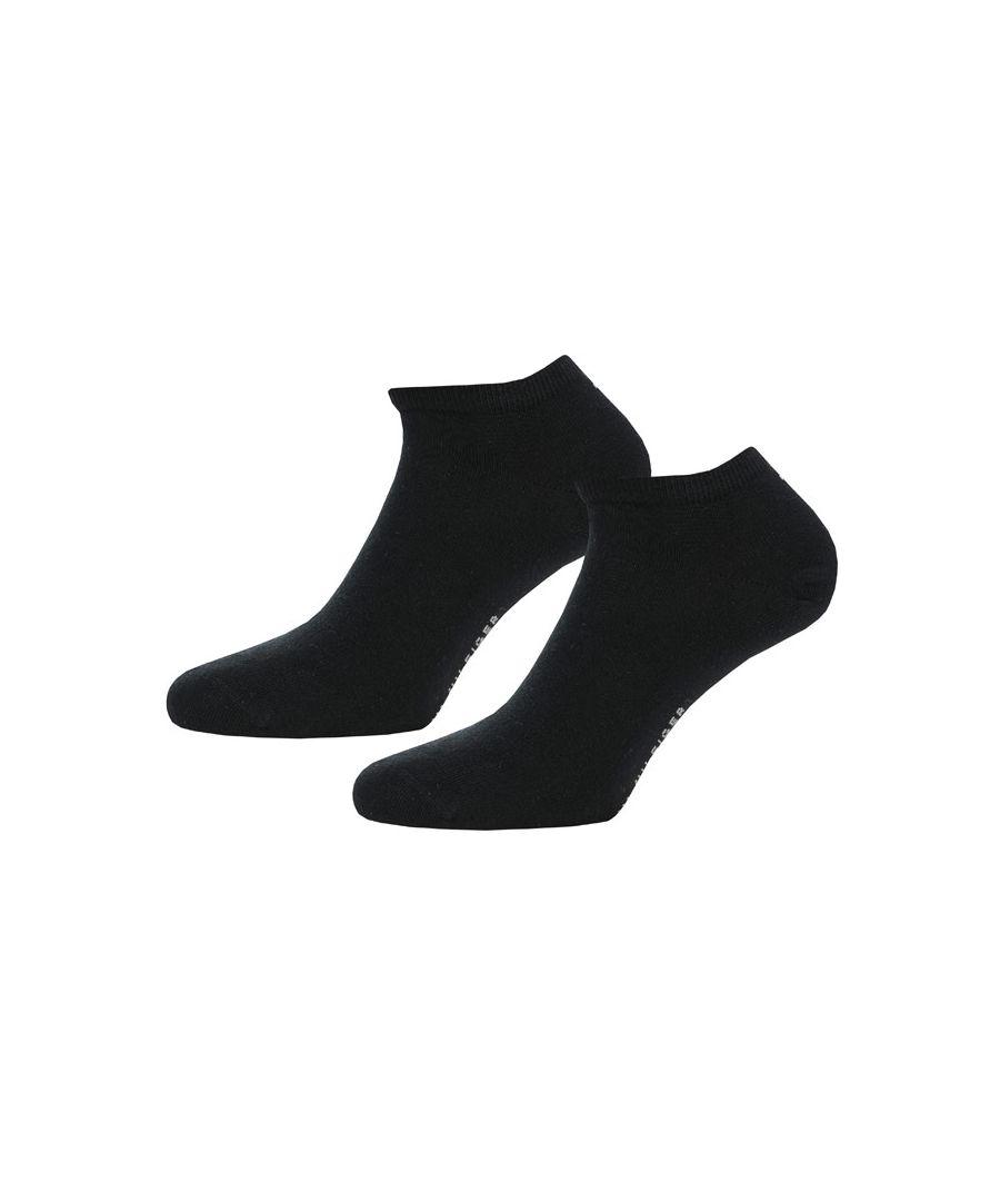 Image for Men's Tommy Hilfiger 2 Pack Sneaker Socks in Black