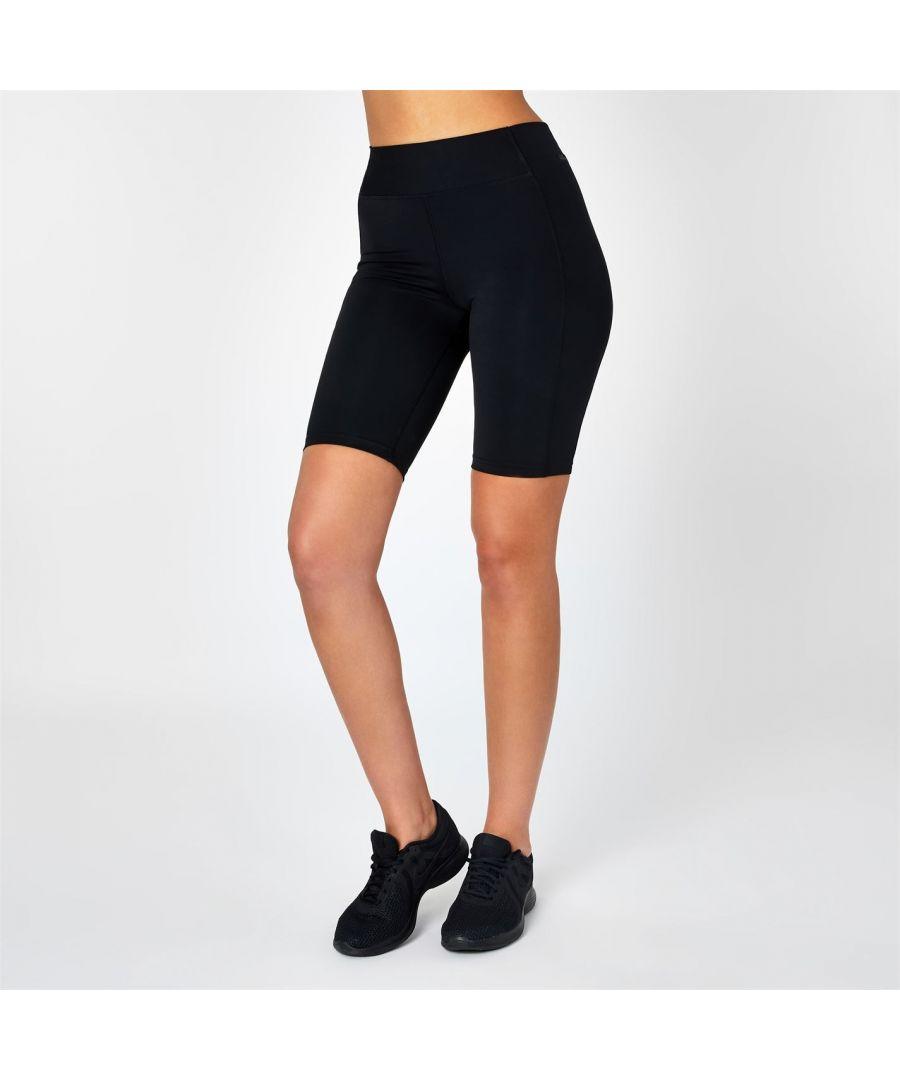 Image for USA Pro Womens Ladies Training Shorts Bottoms Pants Elasticated Waist Clothing