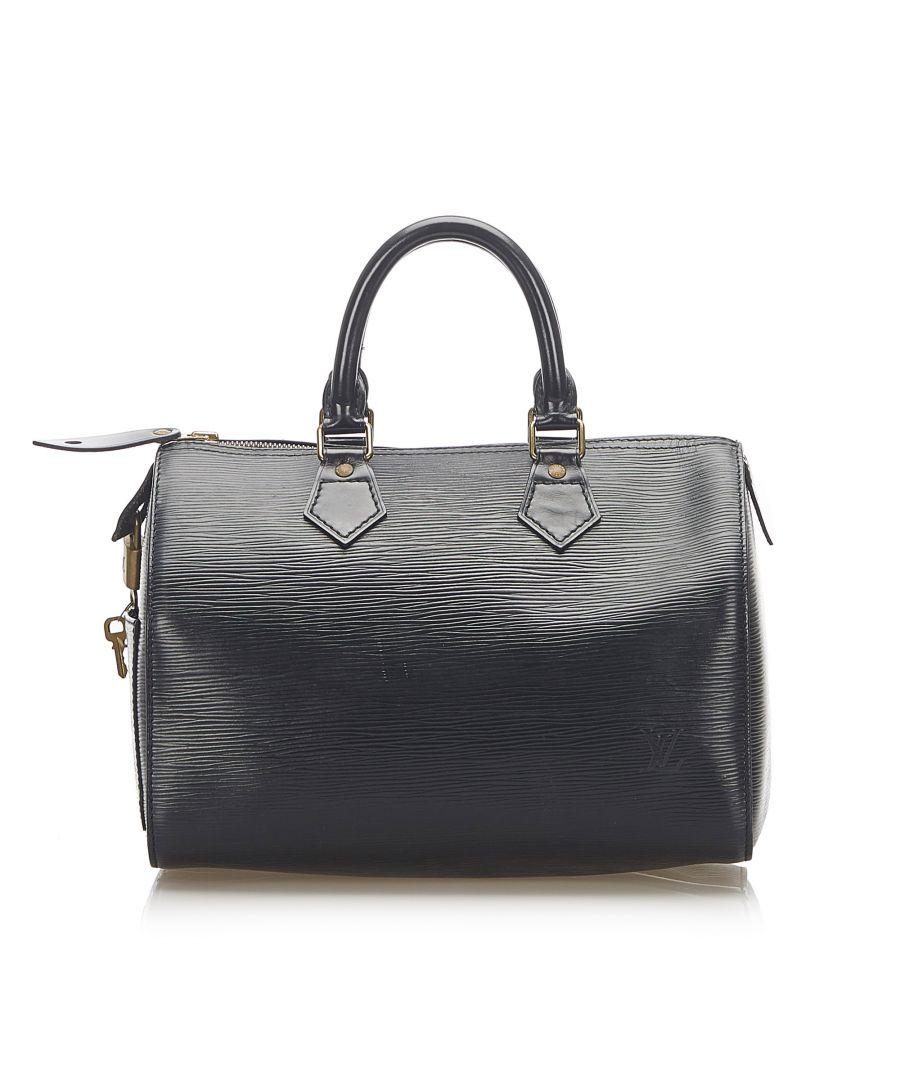 Image for Vintage Louis Vuitton Epi Speedy 25 Black