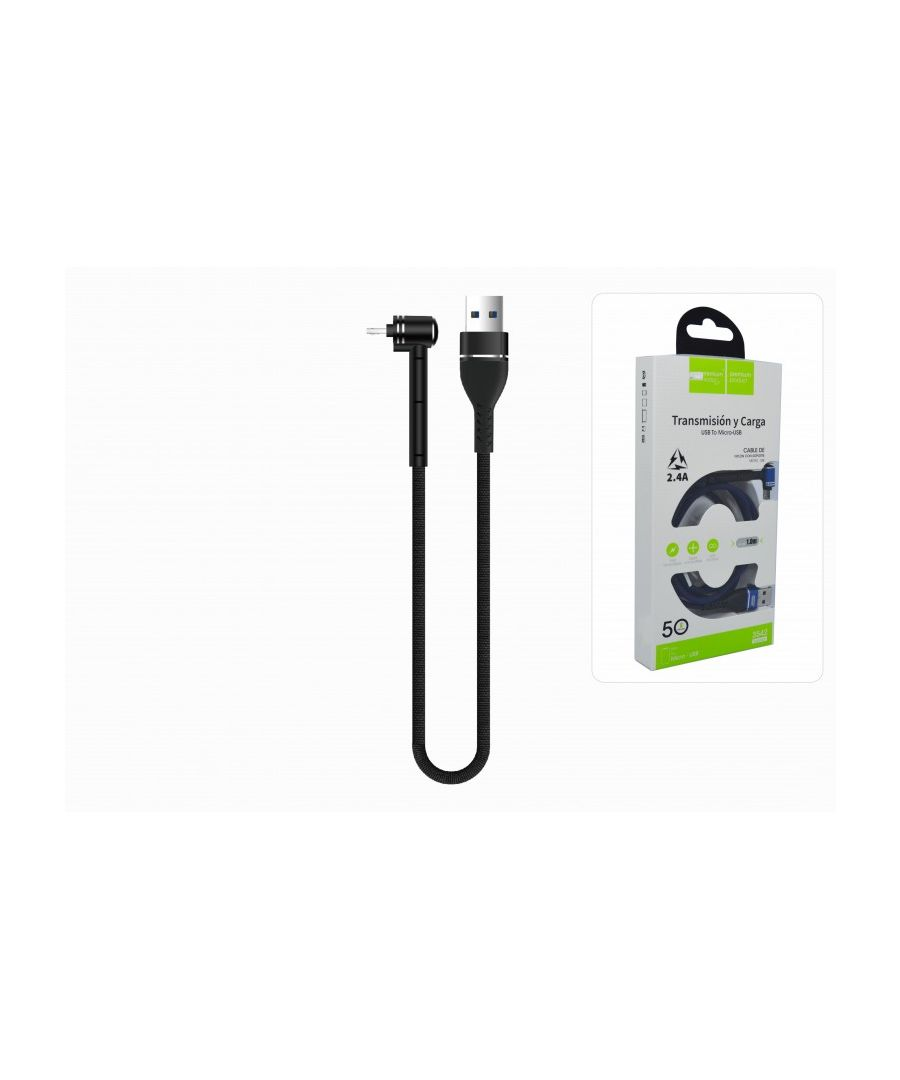 Image for Quick Charge MicroUSB Cable 2.4A 100cm Nylon Braided Connector Stand Desktop