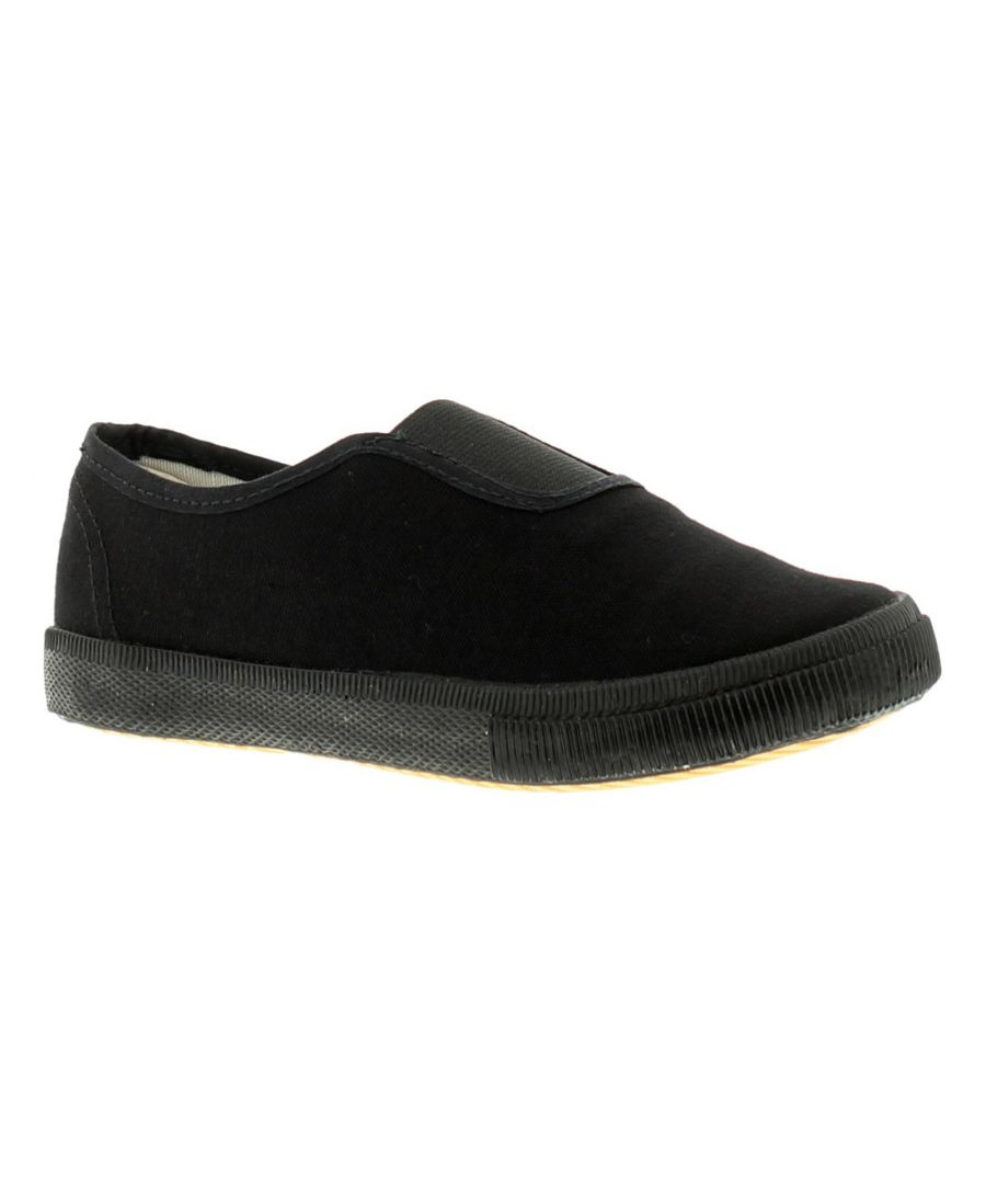 Image for New Childrens Black Gusset School Pumps (Please Note Sizes 7-5)
