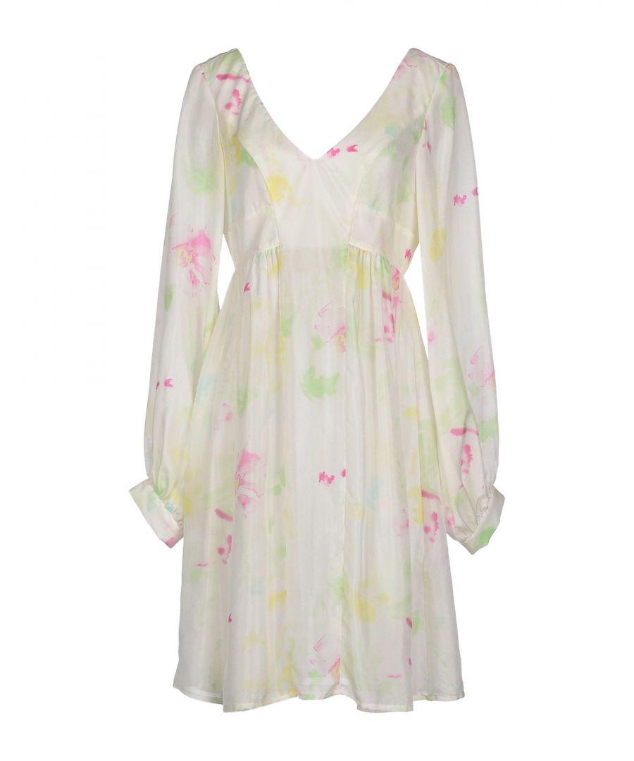 Image for Dondup Light Green Silk Long Sleeve Dress