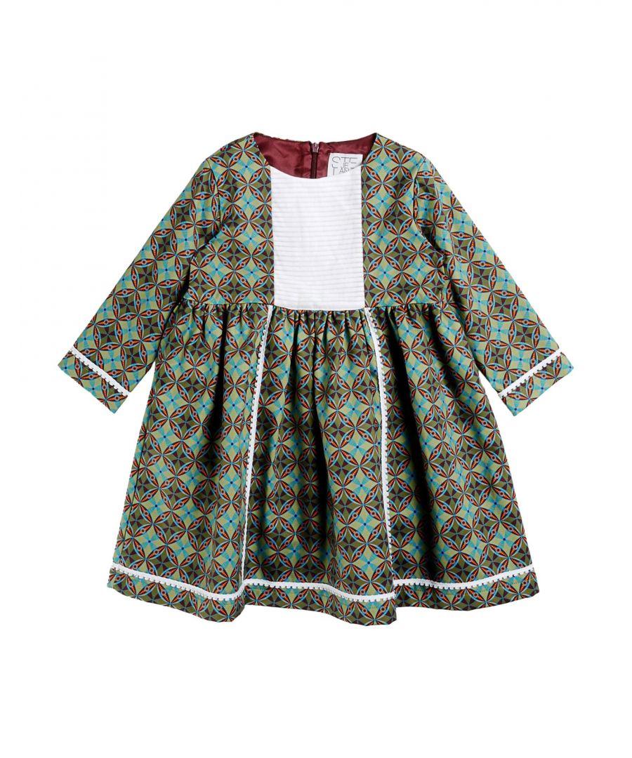 Image for Stella Jean Girls' Green Cotton Dress