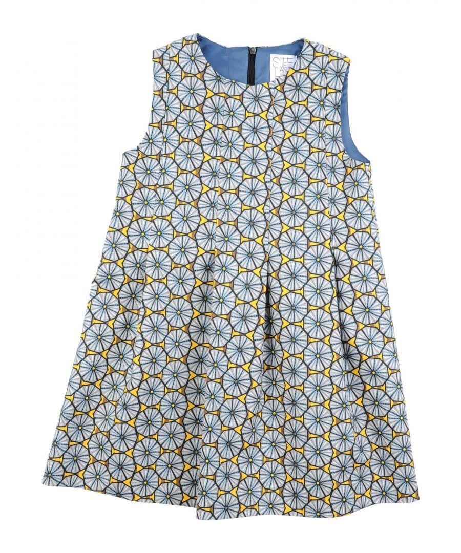 Image for Stella Jean Girl Dresses Grey Cotton