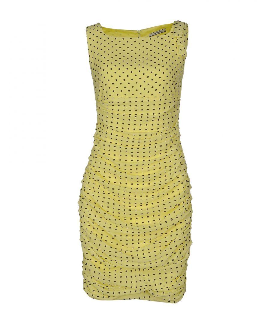 Image for Nenette Light Yellow Polka Dot Sleeveless Dress