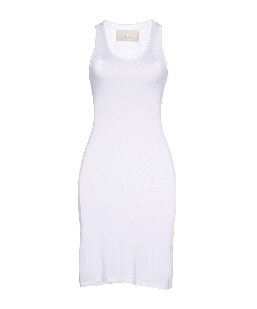 Image for Merci White Cotton Sleeveless Dress