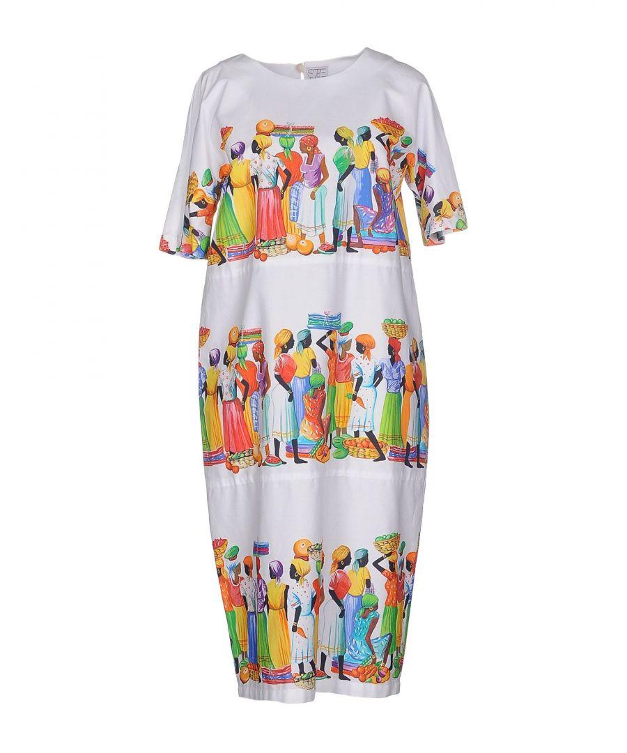 Image for Stella Jean White Cotton Print Dress