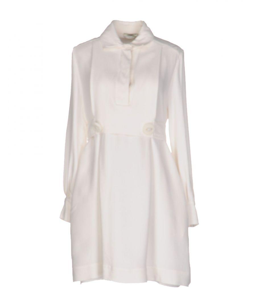 Image for Fendi Ivory Silk Shirt Dress