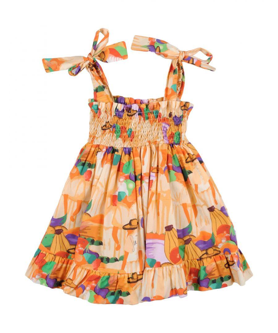 Image for Stella Jean Girl Dresses Apricot Cotton