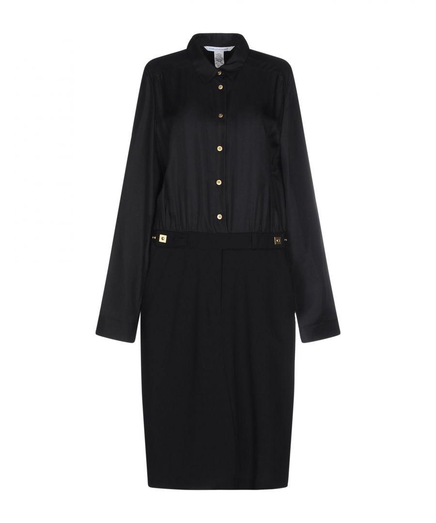 Image for Diane Von Furstenberg Black Silk Dress