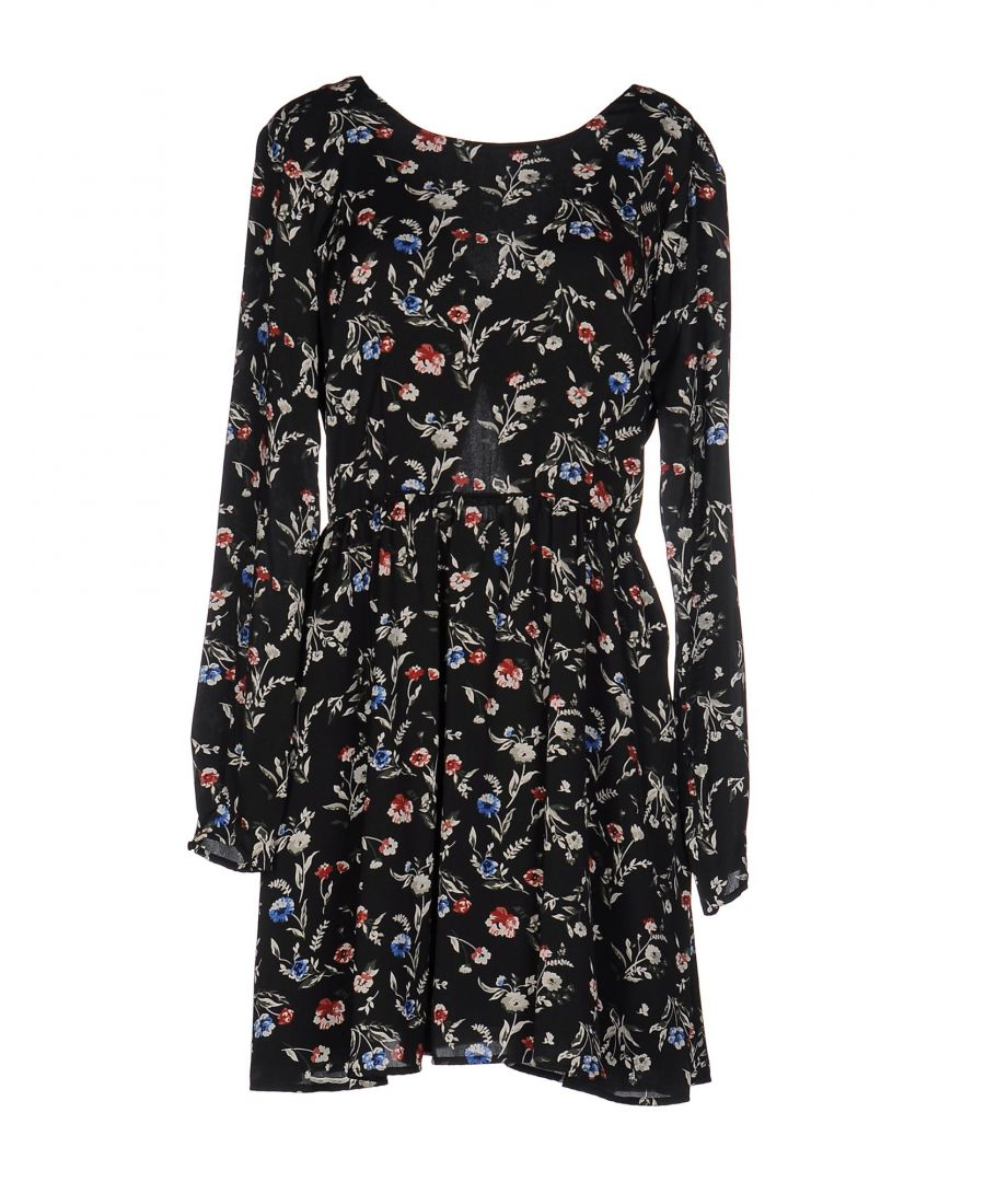 Image for Pepe Jeans Black Print Long Sleeve Dress