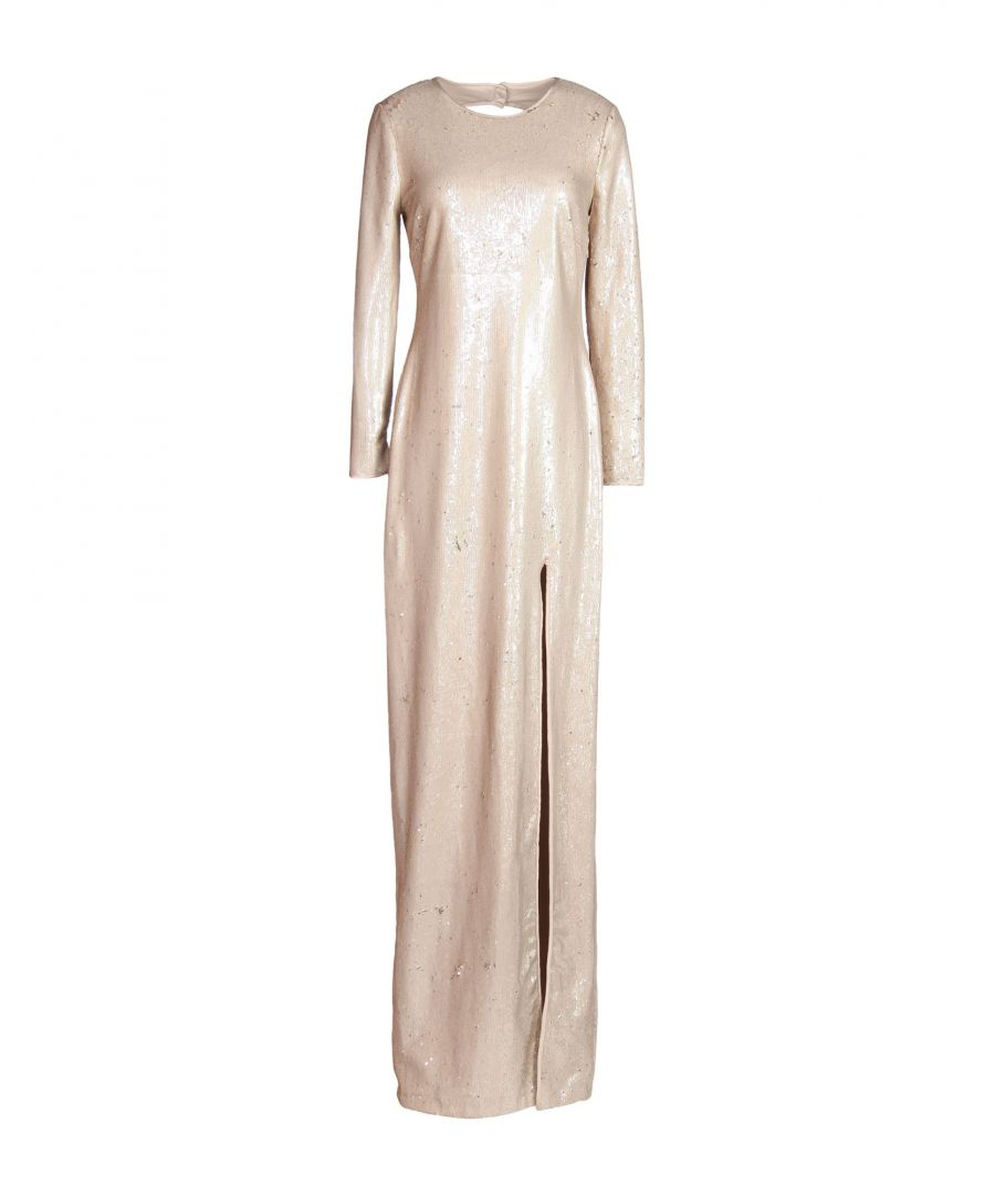 Image for Halston Pale Pink Polyester Long Dress