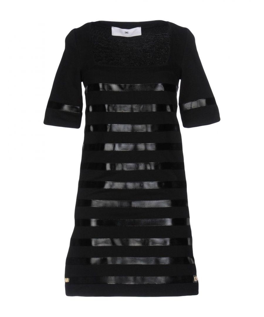 Image for Elisabetta Franchi Jeans Black Cotton Dress