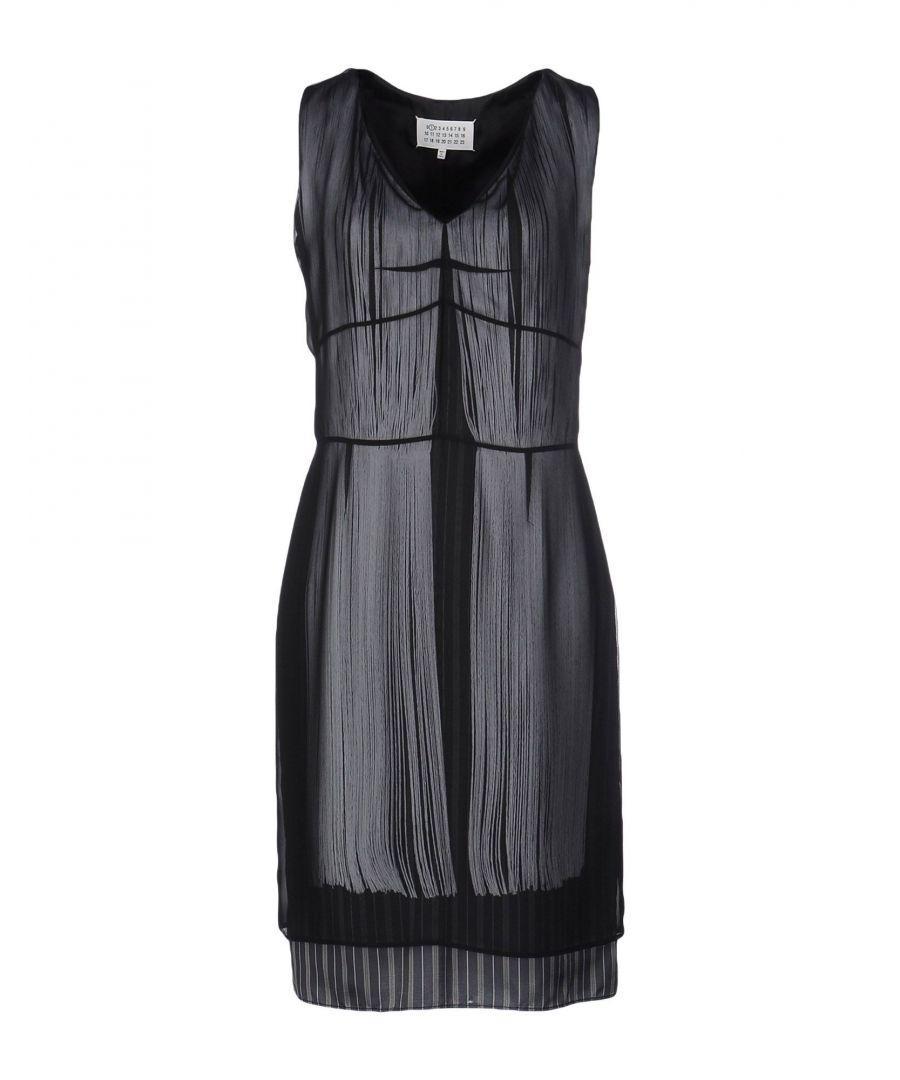 Image for Maison Margiela Black Crepe Sleeveless Dress