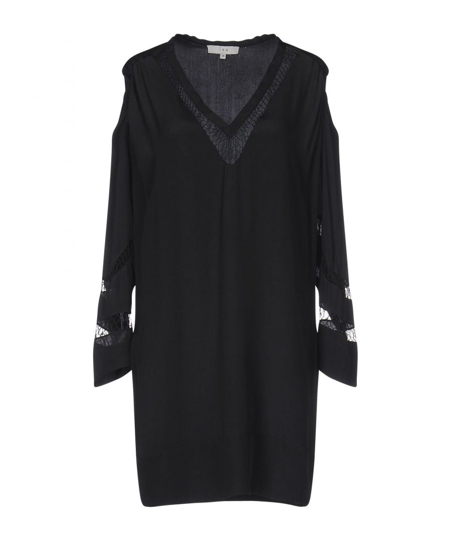 Image for Iro Black Silk Long Sleeve Dress