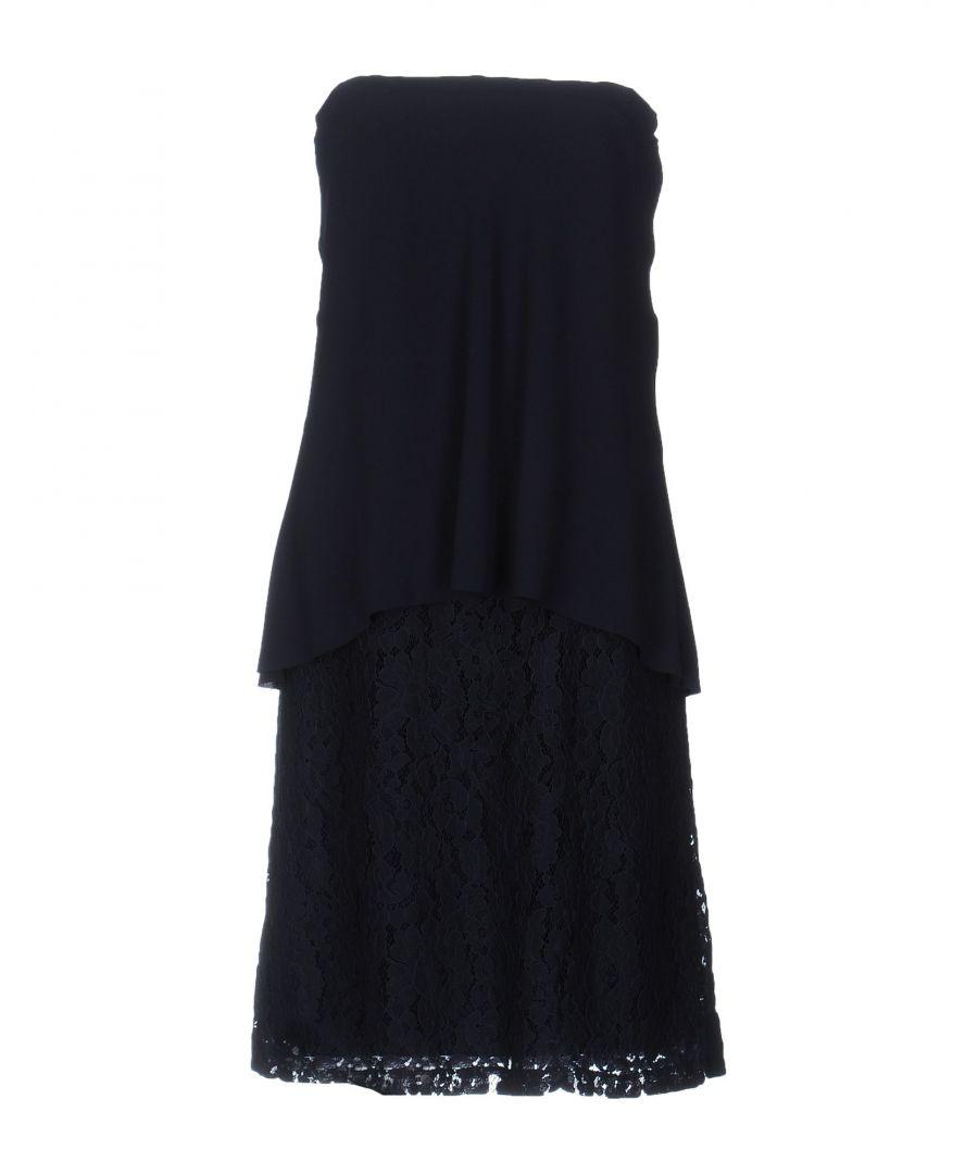 Image for Merci Dark Blue Lace Strapless Dress