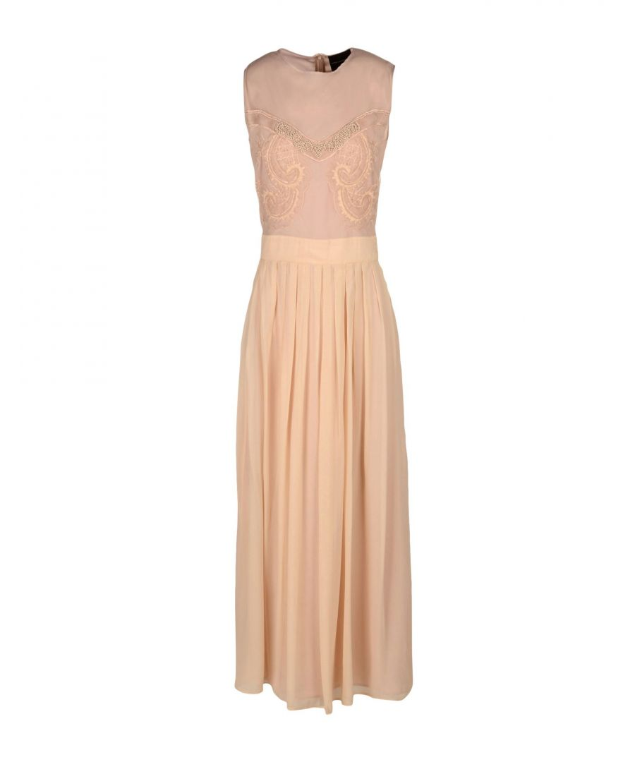 Image for Atos Lombardini Pale Pink Crepe Beaded Full Length Dress