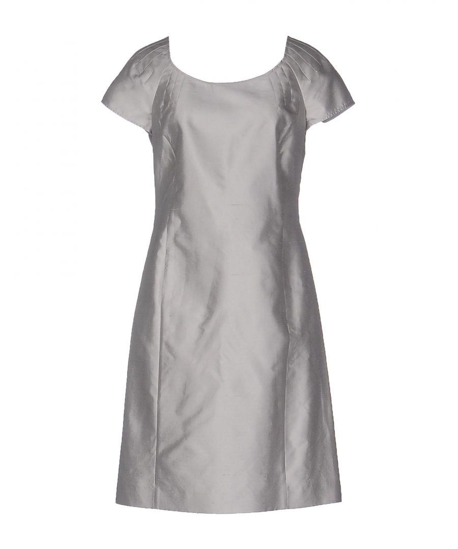 Image for Armani Collezioni Grey Silk Dress