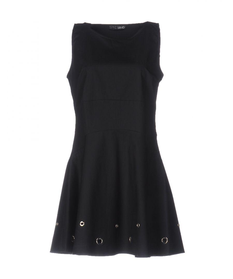Image for Liu Jo Black Cotton Short Dress