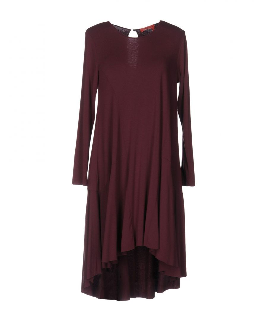 Image for Manila Grace Denim Deep Purple Modal Long Sleeve Dress