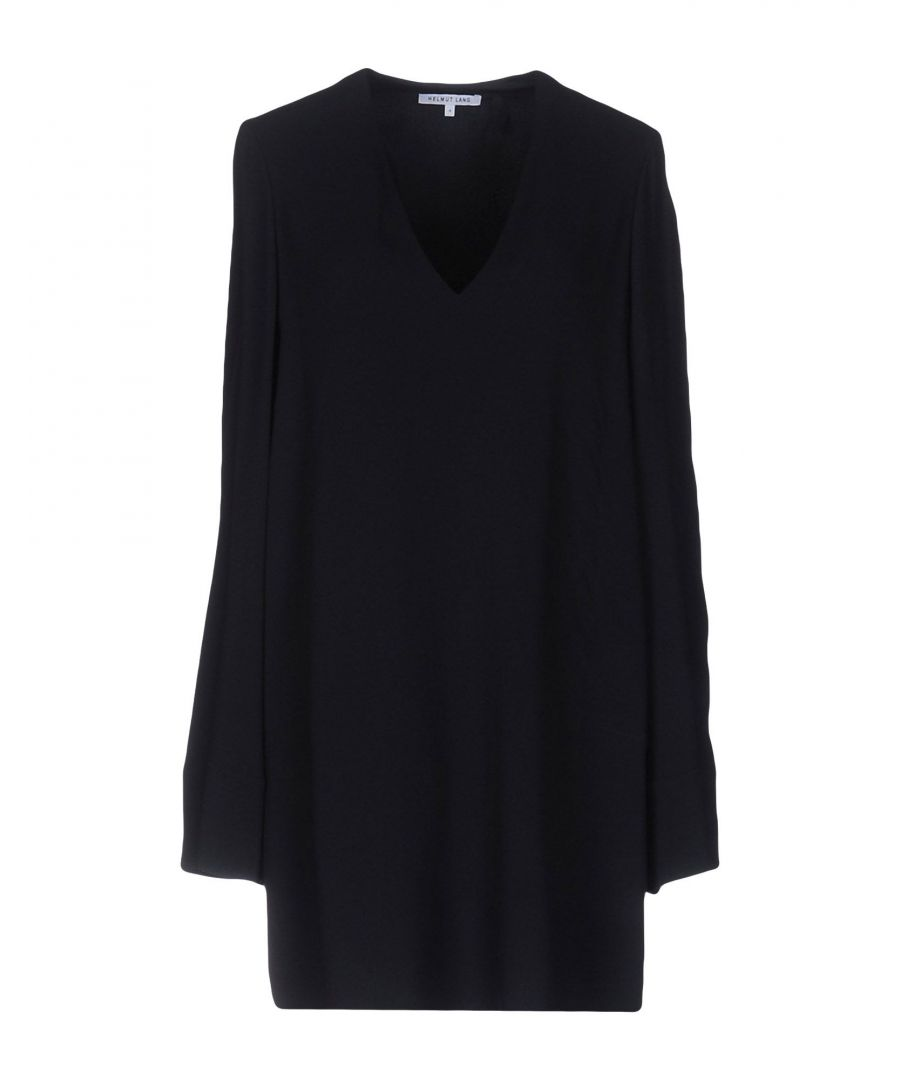 Image for Helmut Lang Dark Blue Long Sleeve Dress