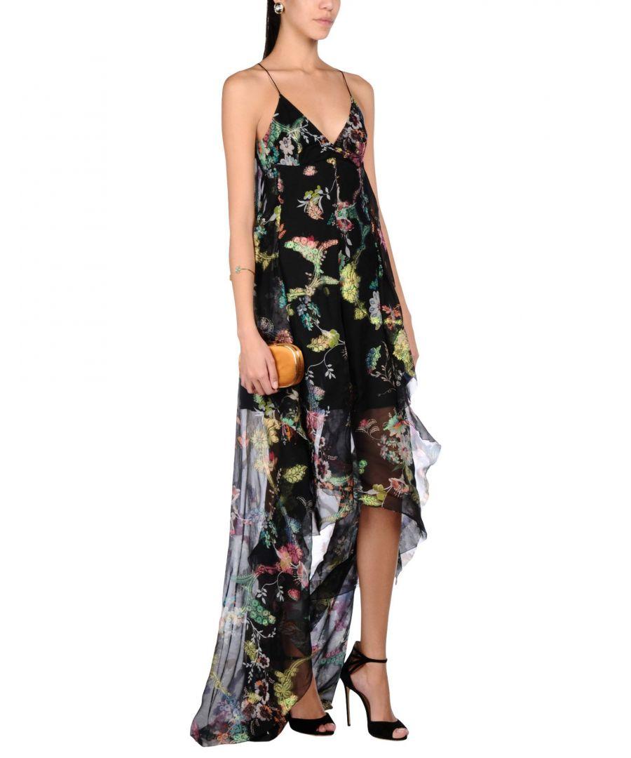 Image for Etro Black Print Silk Dress